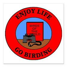 """birding2 Square Car Magnet 3"""" x 3"""""""