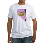 Nevada Brothel Security Fitted T-Shirt