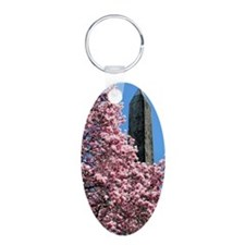 Cleopatras Needle with Magn Aluminum Oval Keychain