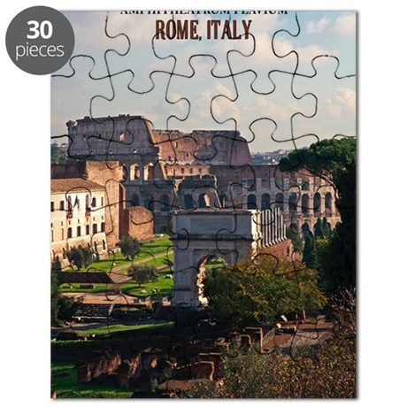 Rome - Colosseum from Roman Forum Puzzle