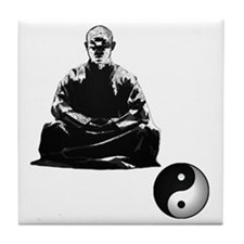 Meditating Monk Tile Coaster