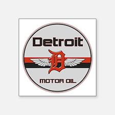 "Detroit Motor Oil copy Square Sticker 3"" x 3"""