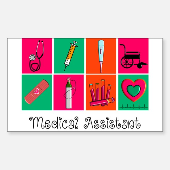 Medical Assistant Pop Art 2 Decal