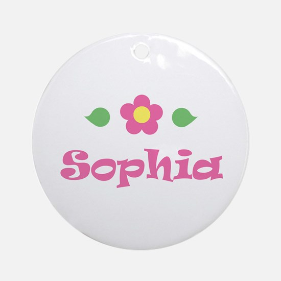 "Pink Daisy - ""Sophia"" Ornament (Round)"