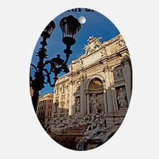 Rome - Trevi Fountain Oval Ornament
