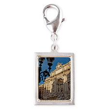 Rome - Trevi Fountain Silver Portrait Charm