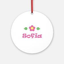 "Pink Daisy - ""Sofia"" Ornament (Round)"