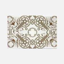 circles_brown Rectangle Magnet