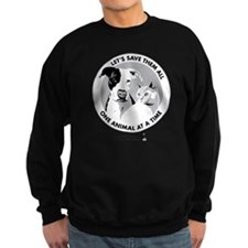 Let's Save Them All - grey Sweatshirt