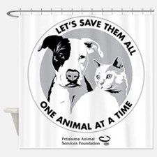 Let's Save Them All - grey Shower Curtain