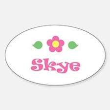"Pink Daisy - ""Skye"" Oval Decal"
