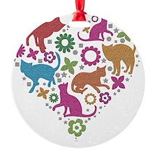 HEART OF CATS Ornament