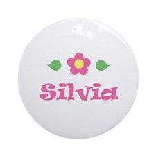 "Pink Daisy - ""Silvia"" Ornament (Round)"
