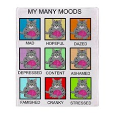 MANY MOODS 2PS Throw Blanket