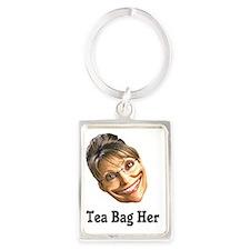 tea bag her Portrait Keychain