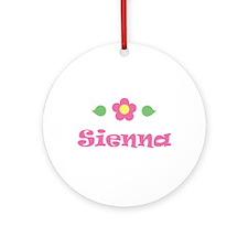 """Pink Daisy - """"Sienna"""" Ornament (Round)"""