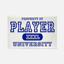 Player University Rectangle Magnet