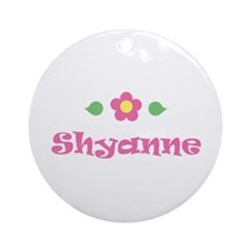 "Pink Daisy - ""Shyanne"" Ornament (Round)"