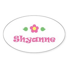 """Pink Daisy - """"Shyanne"""" Oval Decal"""