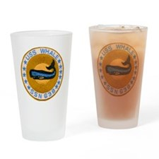 whate patch transparent Drinking Glass