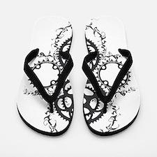 Circle_pocket_black Flip Flops