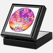 2-celestial_butterfly_circle Keepsake Box
