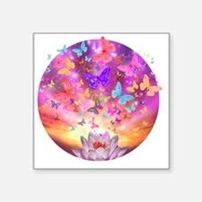 """2-celestial_butterfly_circl Square Sticker 3"""" x 3"""""""