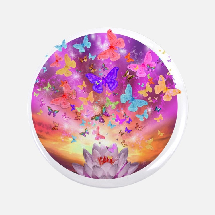 """2-celestial_butterfly_circle 3.5"""" Button"""