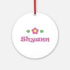 "Pink Daisy - ""Shyann"" Ornament (Round)"