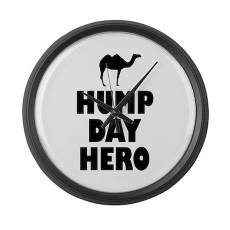 Hump Day Hero Large Wall Clock