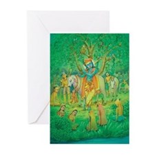 Krishna playing Flute Cards (Pk of 10)