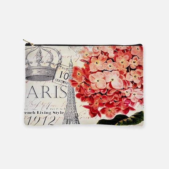 Paris hydrangea Makeup Pouch