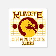 "Kumite Square Sticker 3"" x 3"""