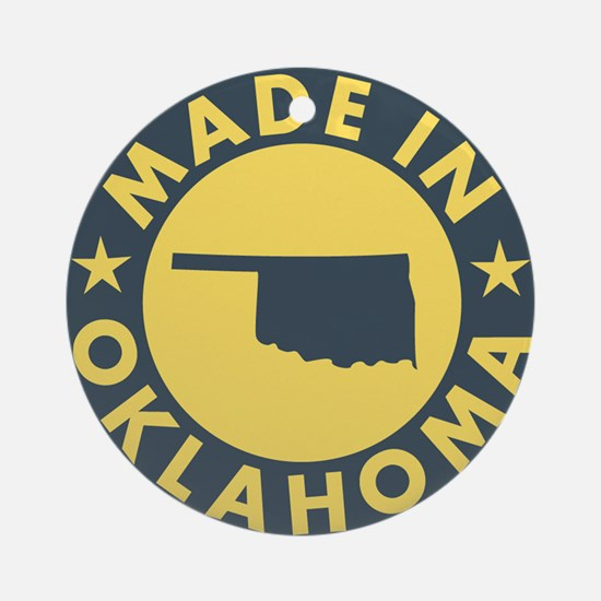 Made-In-OKLAHOMA Round Ornament