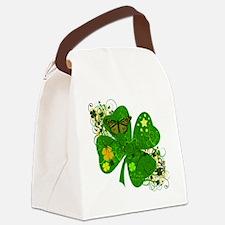 Floral CLover Canvas Lunch Bag
