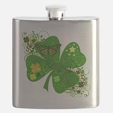 Floral CLover Flask