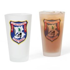 whbates patch transparent Drinking Glass