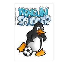 PENGUIN SOCCER t-shirt Postcards (Package of 8)