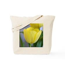 Yellow Tulip Keepsake Box Tote Bag