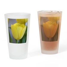 Yellow Tulip Keepsake Box Drinking Glass