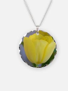 Yellow Tulip Keepsake Box Necklace