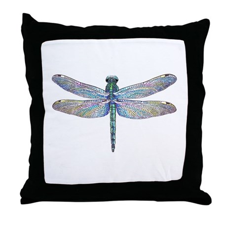 Throw Pillow With Dragonfly : dragonfly Throw Pillow by McLaughlinWatercolor