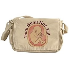 Shall Not Kill Messenger Bag