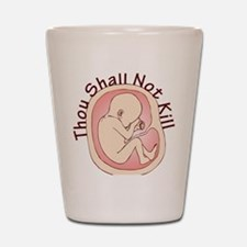 Shall Not Kill Shot Glass