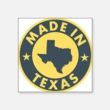 "2-Made-In-Texas Square Sticker 3"" x 3"""