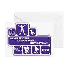 mens_back_shapes_purple Greeting Card