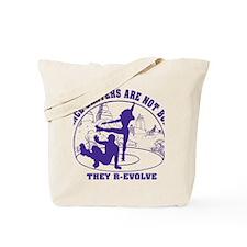 Mens_Circle_back_purple Tote Bag