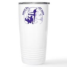 Mens_Circle_back_purple Travel Mug
