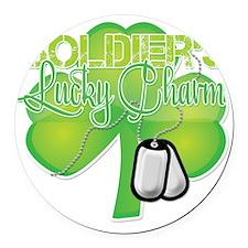 LuckyCharm_Soldier Round Car Magnet