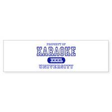 Karaoke University Bumper Bumper Sticker
